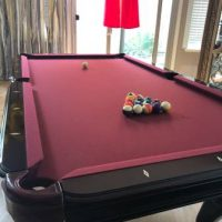 8Ft Pearl Engraved Pool Table