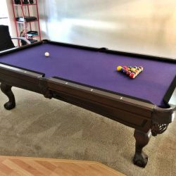 Billiards Pool Table Purple Felt