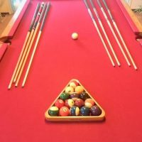 Real Oak Pool Table-SOLD