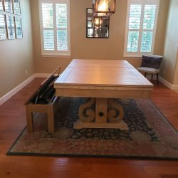 Pool table with top and bench