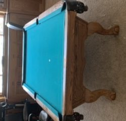 Near new Beach pool table.  8 ft— solid wood - made in USA!