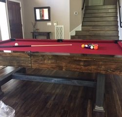 8 Foot Beautiful Wood and Metal signature table